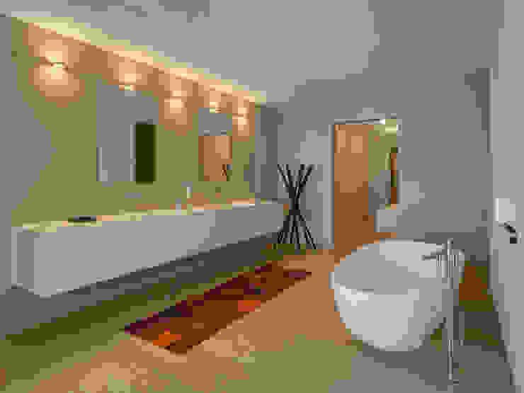 Stadtvillen Adligenswilerstrasse Luzern Moderne Badezimmer von alp - architektur lischer partner ag Modern