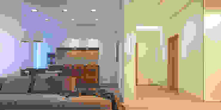 Апартаменты #5 Гостиная в стиле модерн от Zikzak architects Модерн