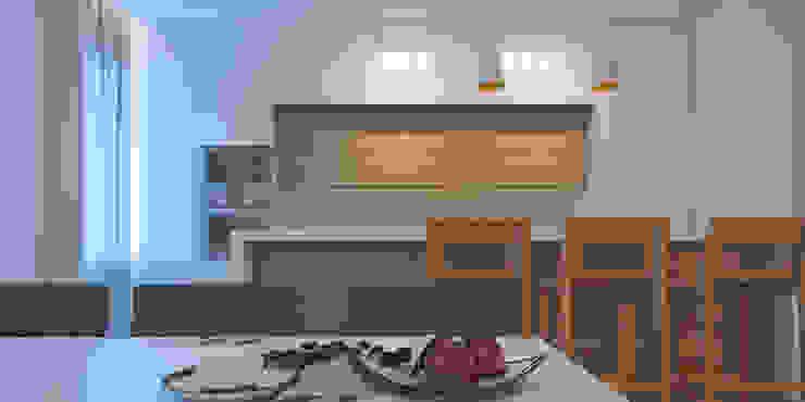 Апартаменты #5 Кухня в стиле модерн от Zikzak architects Модерн