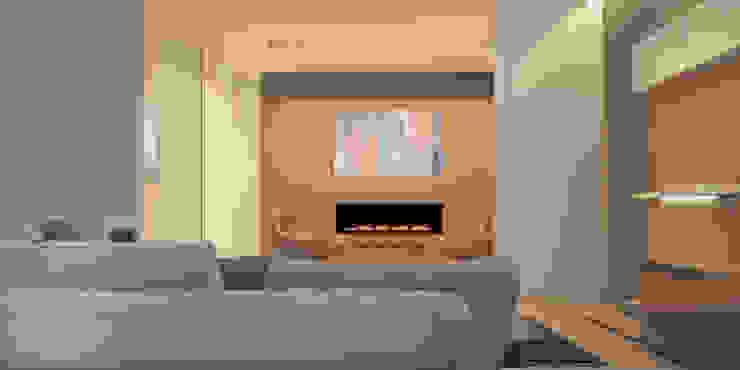Апартаменты #5 Гостиная в стиле минимализм от Zikzak architects Минимализм