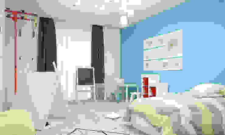Апартаменты #5 Детская комната в стиле модерн от Zikzak architects Модерн