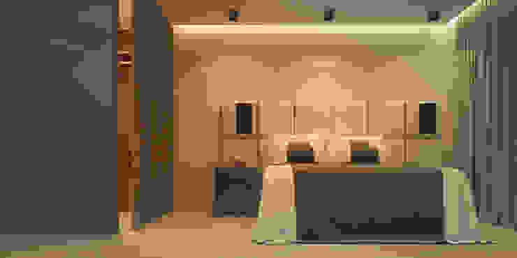Апартаменты #5 Спальня в стиле модерн от Zikzak architects Модерн