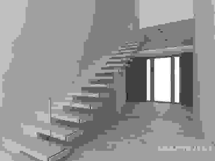 Hành lang, sảnh & cầu thang phong cách hiện đại bởi LK & Projekt Sp. z o.o. Hiện đại