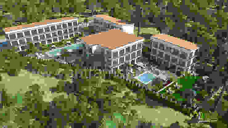 Residential Exterior Bird View Rendering: modern  by Yantram Architectural Design Studio, Modern