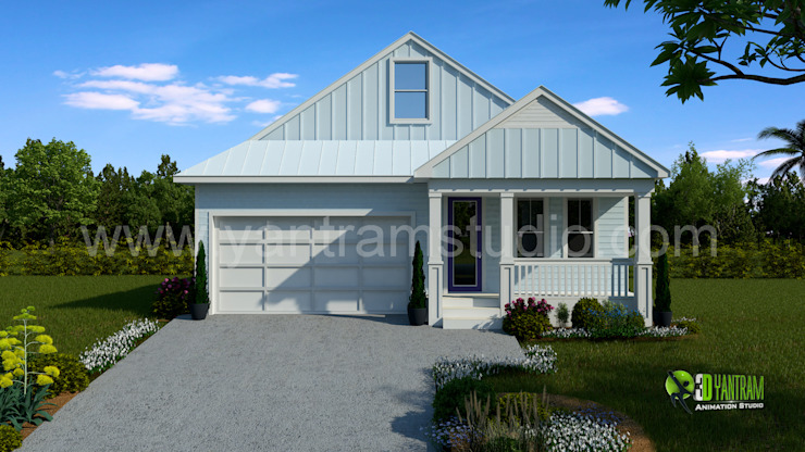 Small Home Rendering Design: modern  by Yantram Architectural Design Studio, Modern