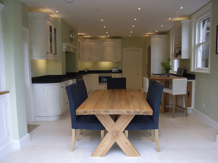 Dining end of kitchen diner by Style Within Classic Wood Wood effect
