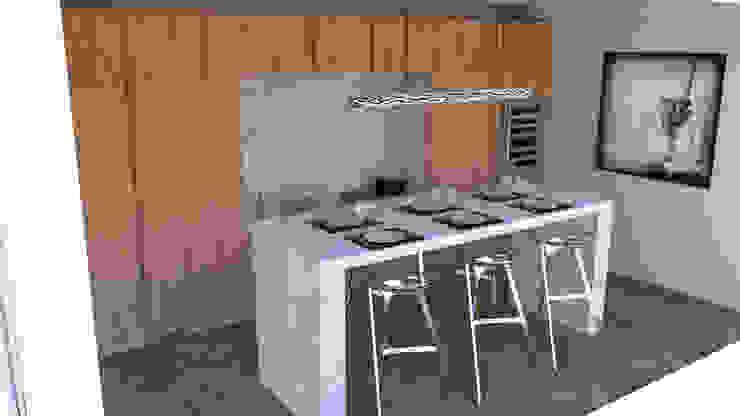مطبخ تنفيذ Xavier Lemoine Architecture d'Intérieur, حداثي