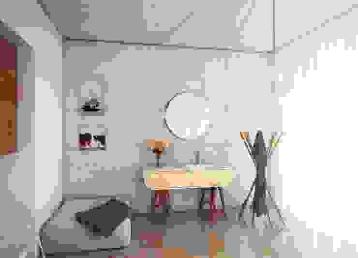 Nowoczesna umywalka połączona z szafką Nowoczesna łazienka od Luxum Nowoczesny