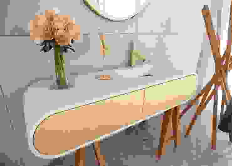 Nowoczesna szafka GOOGLE wraz z umywalką Nowoczesna łazienka od Luxum Nowoczesny