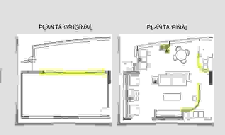 Antes e depois por Ana Menoita Arquitetura e Interiores