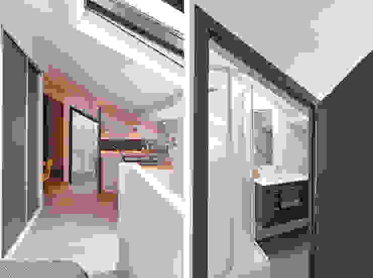 Rénovation d'un studio à Lyon 06 Salle de bain moderne par Marion Lanoë Architecte d'Intérieur Moderne
