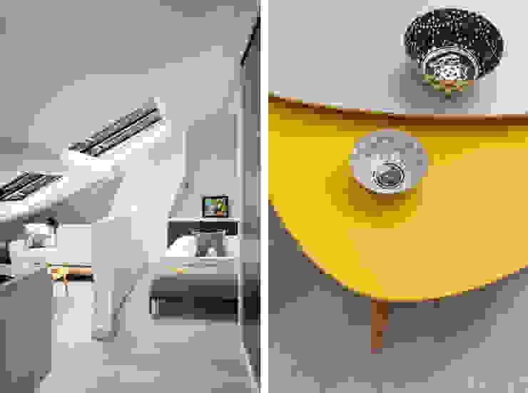 Projekty,  Sypialnia zaprojektowane przez Marion Lanoë Architecte d'Intérieur, Nowoczesny