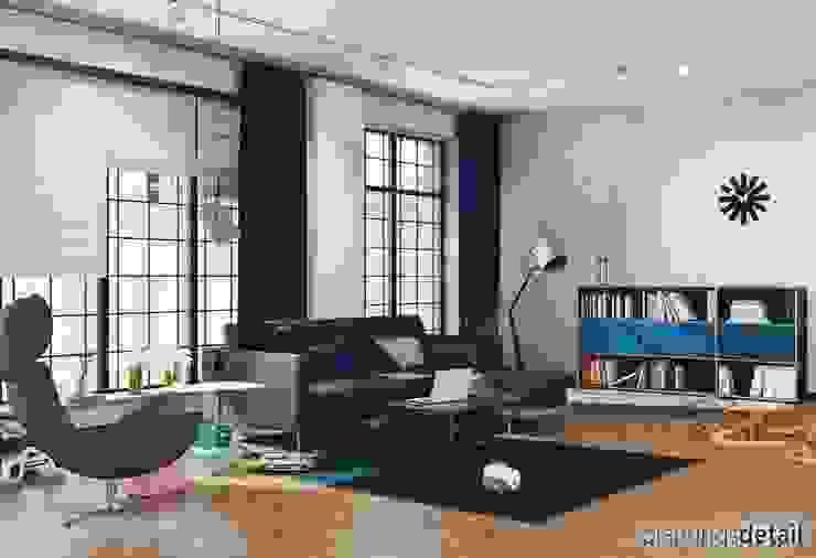 Loftwohnung Moderne Wohnzimmer von planungsdetail.de GmbH Modern