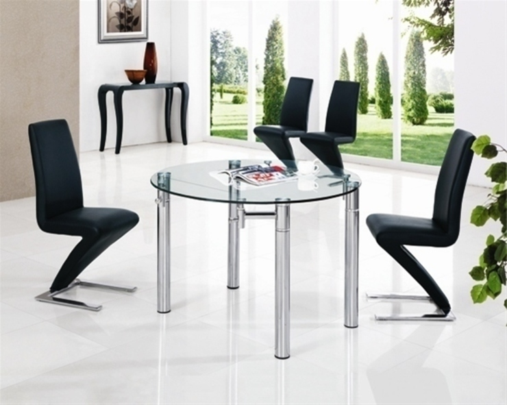 JAVA ROUND Clear EXT. GLASS TABLE por Furniture Italia Moderno