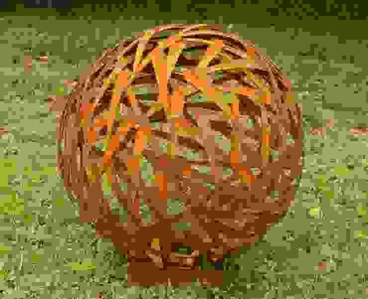 Rost Kugel Durchmesser 80cm Gartendekoshop24 GartenAccessoires und Dekoration