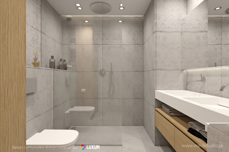 Minimalist bathroom Moderne badkamers van Luxum Modern