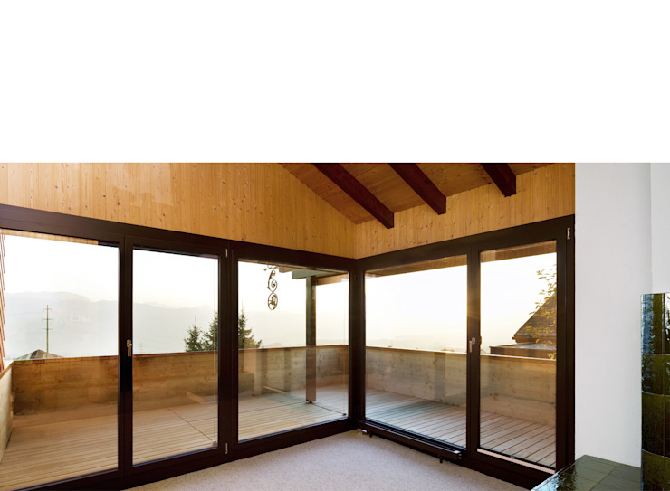Modern Oturma Odası Singer Baenziger Architekten Modern