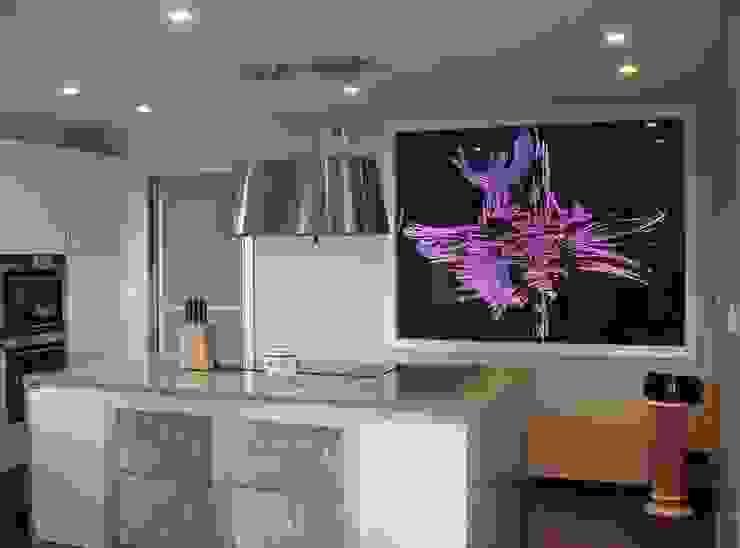 Panneau séparatif en verre Salon moderne par christian herry sculpture verre Moderne