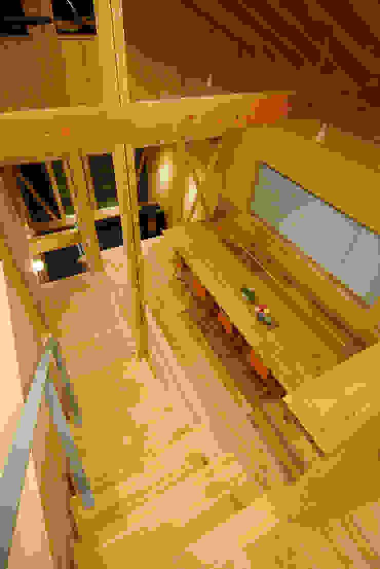 ロフトより見下ろす オリジナルデザインの ダイニング の 豊田空間デザイン室 一級建築士事務所 オリジナル