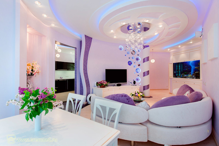 Eclectic style living room by Вира-АртСтрой Eclectic