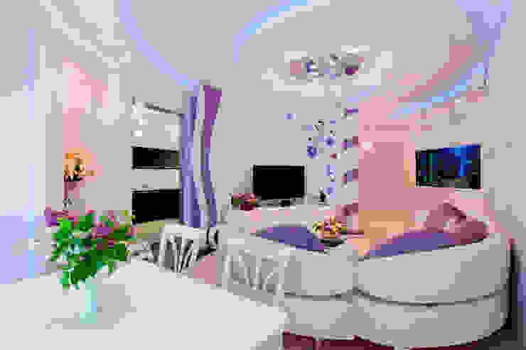 """Квартира в ЖК """"Доминион"""" Гостиные в эклектичном стиле от Вира-АртСтрой Эклектичный"""