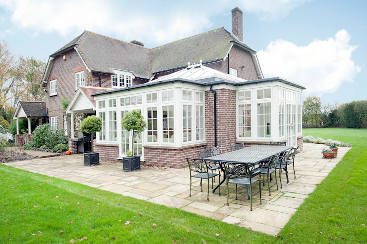 Orangery and Kitchen Extension Modern Living Room by ROCOCO Modern