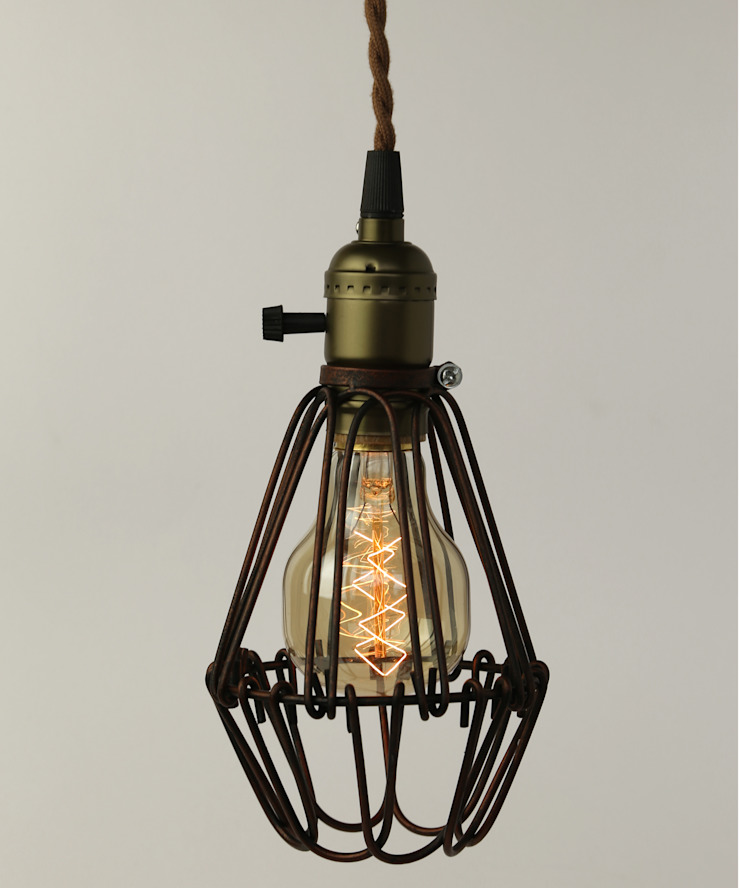 Vintage Pendant Cage - Skull Filament Light Bulb William and Watson 家居用品配件與裝飾品