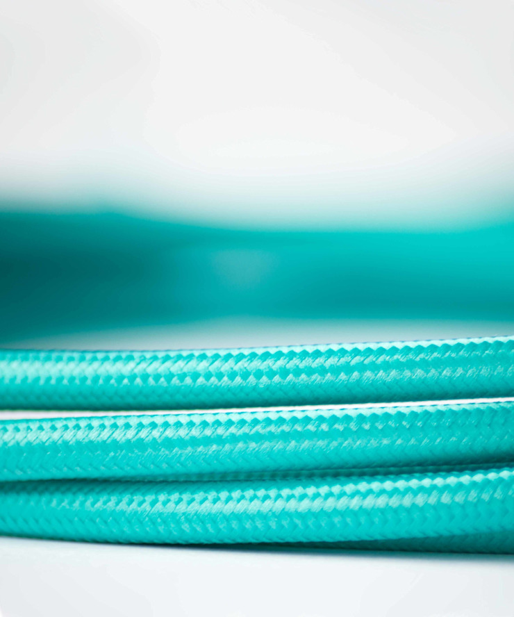 Fabric lighting cable - Ice Blue William and Watson HouseholdAccessories & decoration