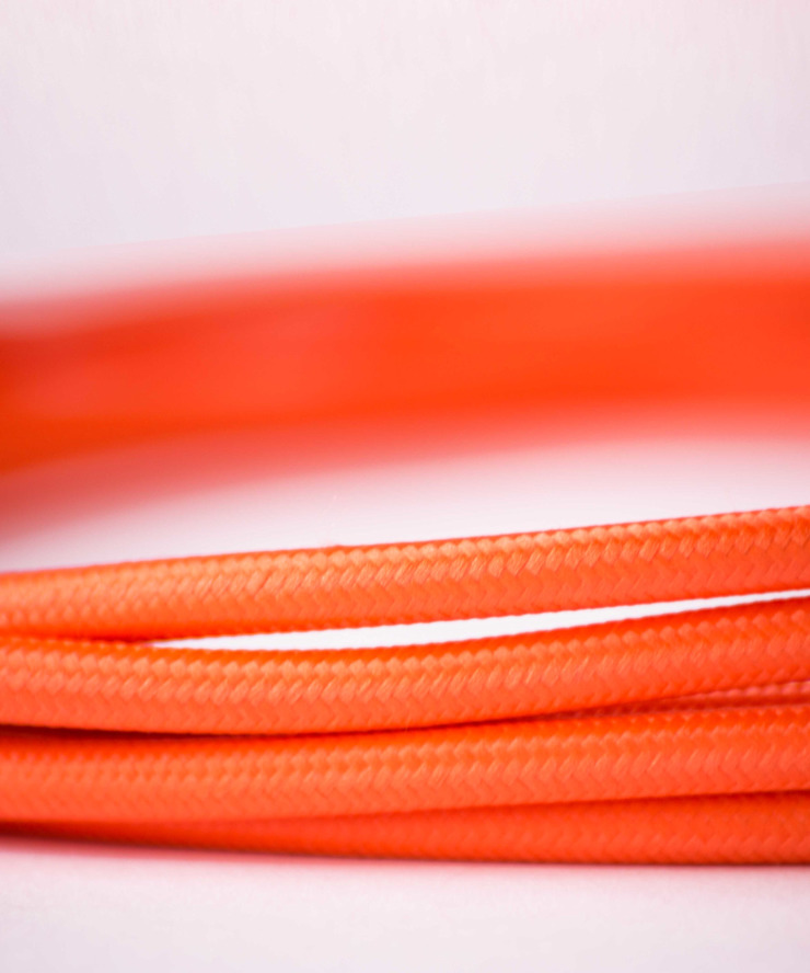 Fabric lighting cable - Orange William and Watson HouseholdAccessories & decoration