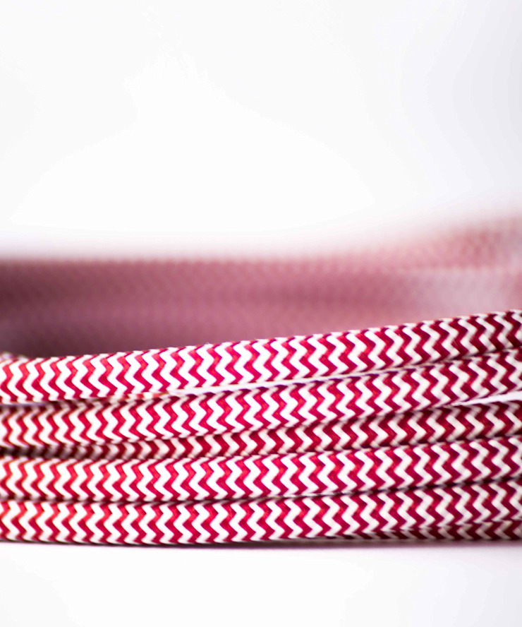 Fabric lighting cable - Red&White William and Watson HouseholdAccessories & decoration