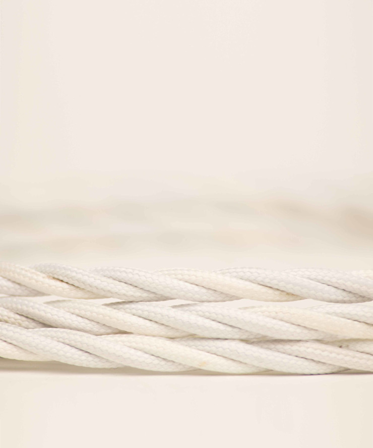 Fabric lighting cable Twisted - Pure White William and Watson HouseholdAccessories & decoration