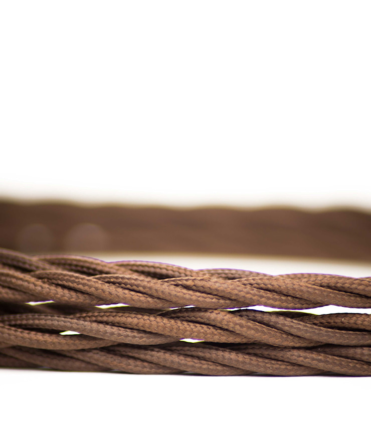 Fabric lighting cable Twisted - Earthy Brown William and Watson HouseholdAccessories & decoration