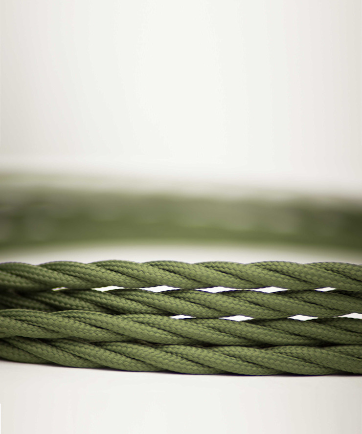 Fabric lighting cable Twisted - Green Army William and Watson HouseholdAccessories & decoration