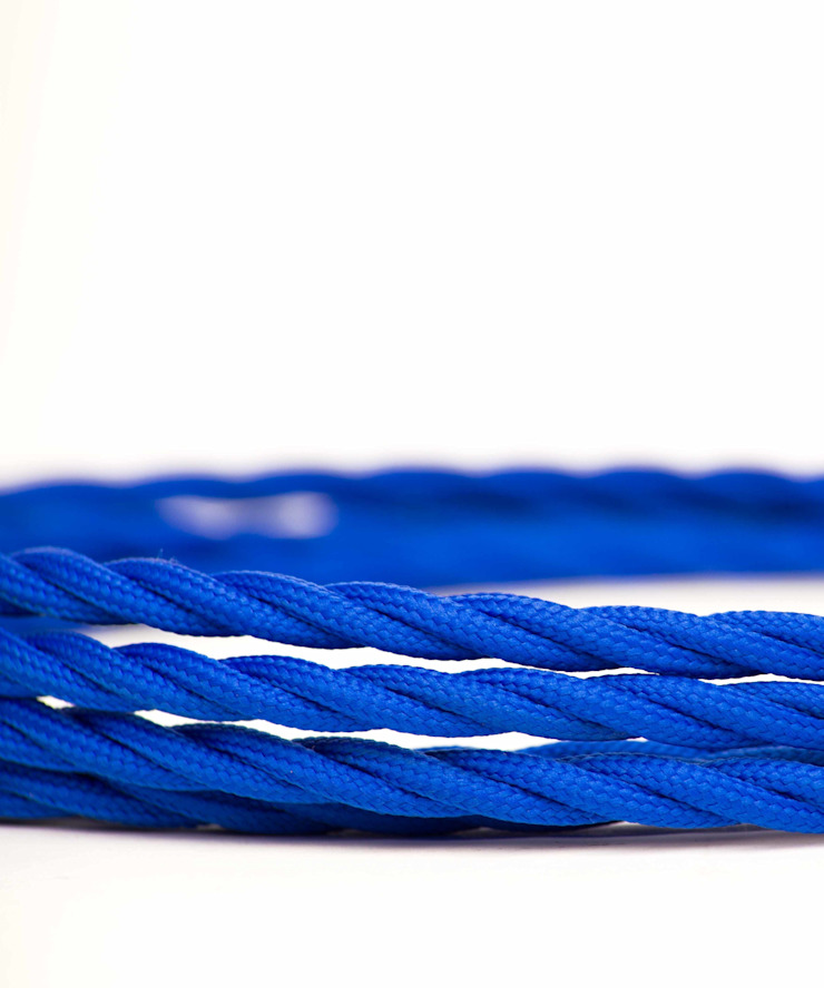 Fabric lighting cable Twisted - Royal Blue William and Watson HouseholdAccessories & decoration