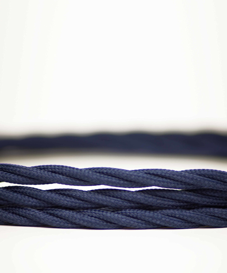 Fabric lighting cable Twisted - Ocean Blue William and Watson HouseholdAccessories & decoration