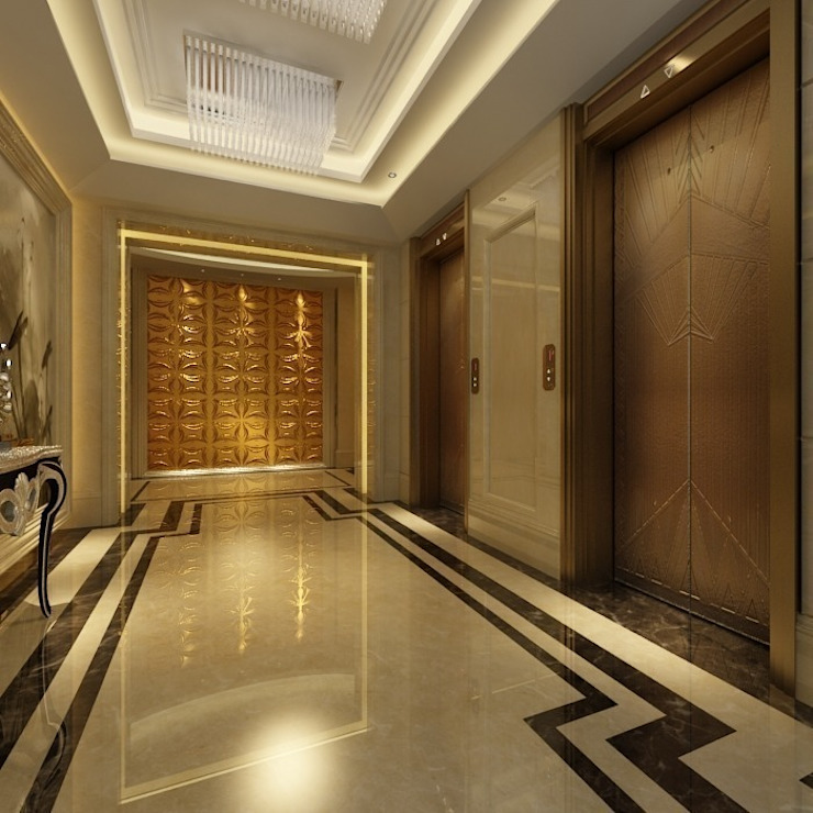 Modern Corridor, Hallway and Staircase by Diva Yapı Modern
