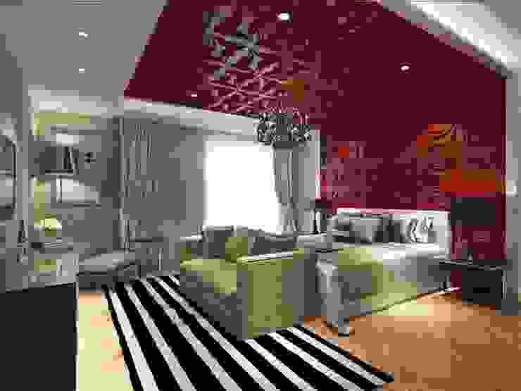 Diva Yapı – 3D GOLD PANEL:  tarz Yatak Odası,