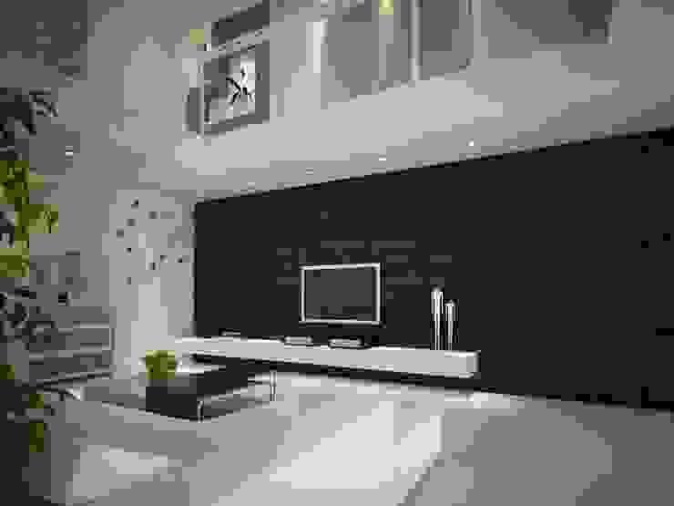 3D GOLD PANEL Modern Multimedya Odası Diva Yapı Modern