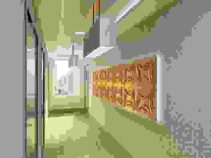 3D GOLD PANEL Minimalist Koridor, Hol & Merdivenler Diva Yapı Minimalist