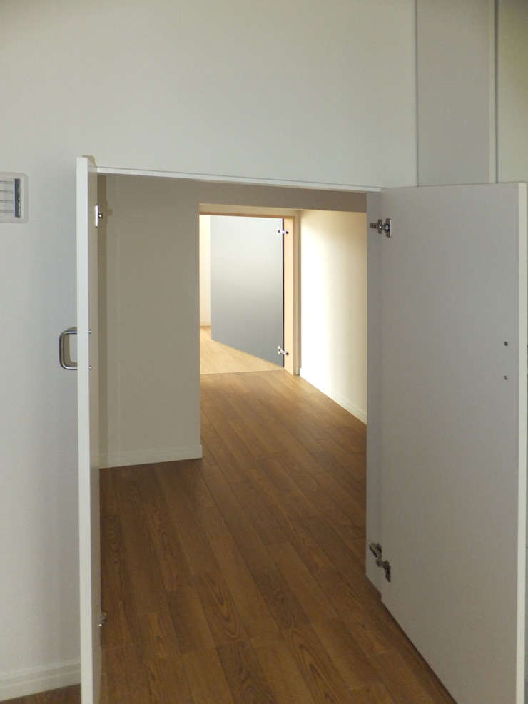 2WAYの階段下収納 オリジナルスタイルの 玄関&廊下&階段 の 株式会社SOM(ソム)建築計画研究所 オリジナル