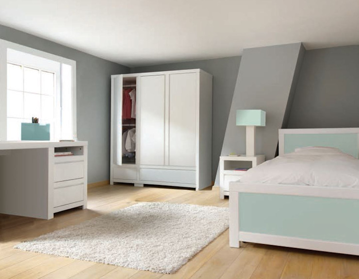 bobo kids furniture - Jack bed, wardrobe & desk de bobo kids Moderno
