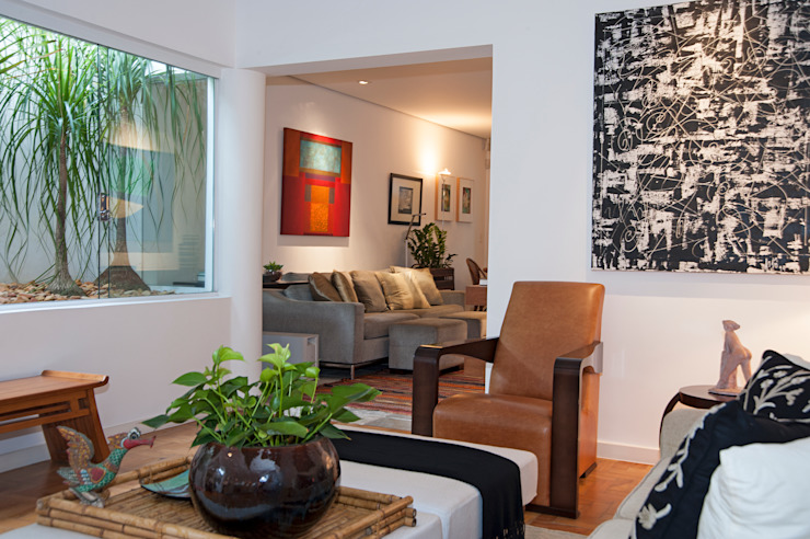Residência Jardim Europa/SP por Renata Romeiro Interiores Moderno