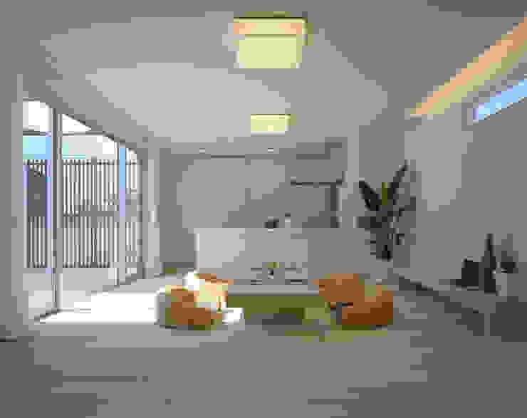 桐の家 モダンデザインの リビング の 住工房一級建築士事務所 モダン
