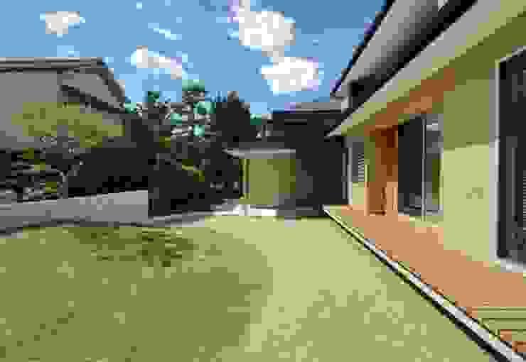 ヒンプンのある家: 岩田建築アトリエが手掛けた庭です。,モダン
