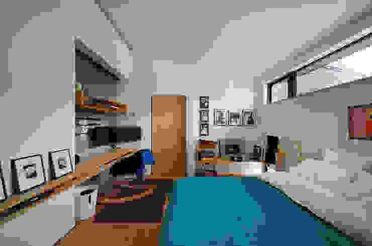 小さな平屋 モダンデザインの 書斎 の 岩田建築アトリエ モダン