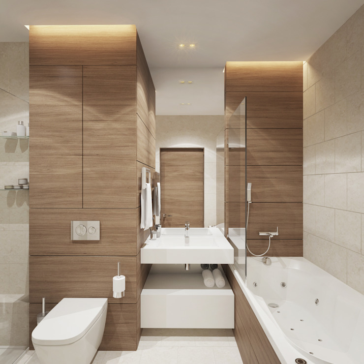Minimalist bathroom by Y.F.architects Minimalist