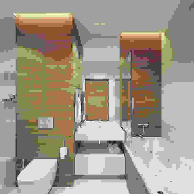 Baños minimalistas de Y.F.architects Minimalista