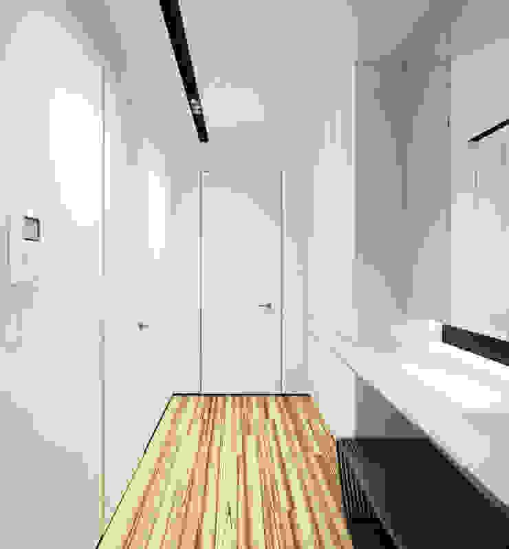 Minimalistischer Flur, Diele & Treppenhaus von Y.F.architects Minimalistisch