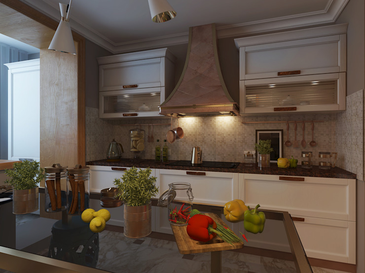 Французская лазурь Кухни в эклектичном стиле от Арт-мастерская 'РЕПЛИКА' Эклектичный