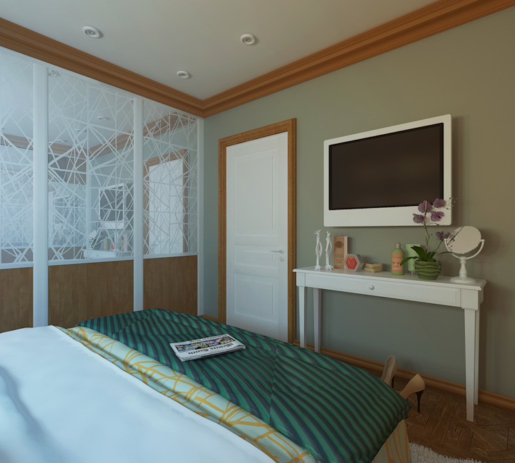 Французская лазурь Спальня в эклектичном стиле от Арт-мастерская 'РЕПЛИКА' Эклектичный